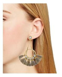 Rebecca Minkoff - Metallic Tassel Chandelier Earrings - Lyst