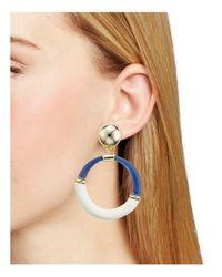 Alexis Bittar - Multicolor Two-tone Hoop Clip-on Earrings - Lyst