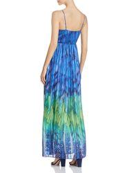 T Tahari - Blue Penelope Ombré Print Maxi Dress - Lyst