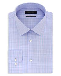 Bloomingdale's - Blue Windowpane Regular Fit Stretch Dress Shirt for Men - Lyst