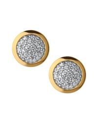 Links of London - Metallic Diamond Essentials Pavé Round Stud Earrings - Lyst