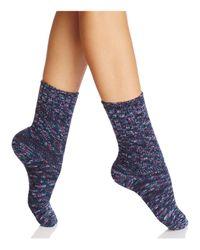 Hue - Blue Super-soft Ribbed Boot Socks - Lyst
