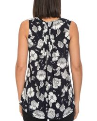B Collection By Bobeau - Blue Lily Floral-print Sleeveless Top - Lyst