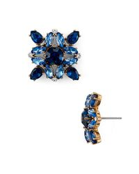 Kate Spade - Blue Stud Earrings - Lyst