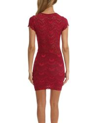 Nightcap - Red Spanish Deep V Cap Sleeve Dress - Lyst
