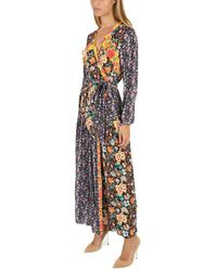 FRAME - Black Frame Floral Panel Dress - Lyst