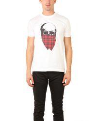 Markus Lupfer - White Tartan Skull T Shirt for Men - Lyst