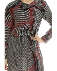 3.1 Phillip Lim - Multicolor Print Silk Ruffle Dress - Lyst