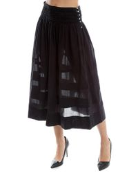 LoveShackFancy | Black Margaux Skirt | Lyst