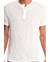 Vince - White Henley Tee for Men - Lyst