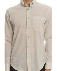 Naked & Famous - Natural Regular Shirt Organic Cotton Heather Air Twill for Men - Lyst