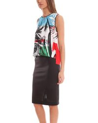 Clover Canyon - Multicolor Abstract Garden Drape Top - Lyst