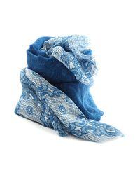 Destin | Blue Stola Ombre Lace Scarf | Lyst