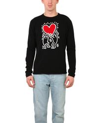 Lucien Pellat Finet | Black Cashmere Keith Haring Sweater for Men | Lyst