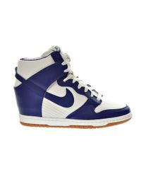 Nike - Blue Dunk Sky Hi High-Top Sneakers - Lyst