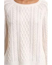 Nili Lotan - Brown Feather Weight Aran Sweater - Lyst