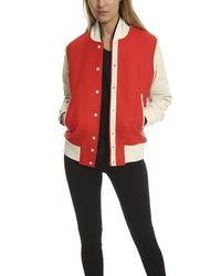 Rag & Bone | Red Edith Varsity Jacket | Lyst