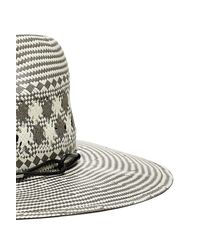 Rag & Bone - Gray Straw Wide Brim Fedora - Lyst