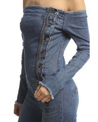 RTA - Blue Lucienne Off The Shoulder Jumpsuit - Lyst