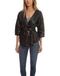 Smythe | Black Leather Kimono Jacket | Lyst