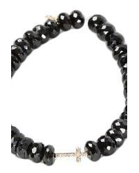 Sydney Evan - Black Short Cross Charm Bracelet - Lyst