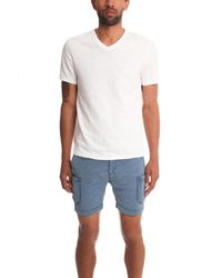 VINCE | White Cotton Slub V-neck Tee for Men | Lyst