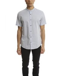 VINCE | Blue Melrose Collar Ss Button Up for Men | Lyst
