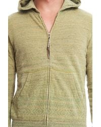Remi Relief - Yellow Silk Nep Zip Hoody for Men - Lyst