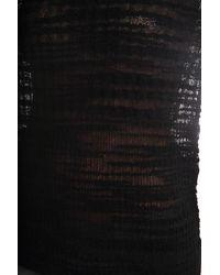 Helmut Lang - Black Eroded Threads Pullover - Lyst