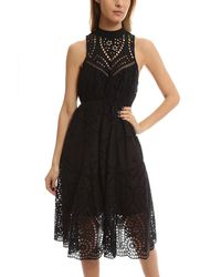 Zimmermann | Black Harlequin Broderie-anglaise Cotton Midi Dress | Lyst