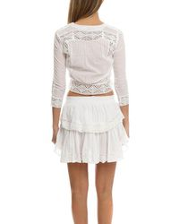 LoveShackFancy - White Victorian Blouse - Lyst