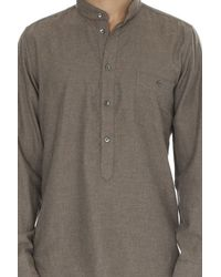 Richard James - Gray Fawn Lux Herringbone Shirt for Men - Lyst