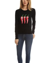 Markus Lupfer - Black Chillies Sequin Grace Sweater - Lyst