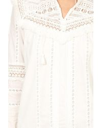 Sea - White Striped Lace Belted Dress - Lyst
