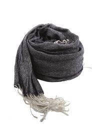 Woolrich - Blue Wool Linen Scarf - Lyst