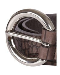 Orciani - Women's Brown Leather Belt - Lyst