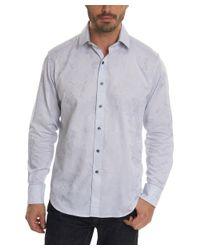 Robert Graham - Blue Ryker Classic Fit Woven Shirt for Men - Lyst