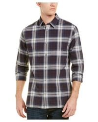 Vince - Blue Melrose Plaid Slim Fit Button Down Shirt for Men - Lyst