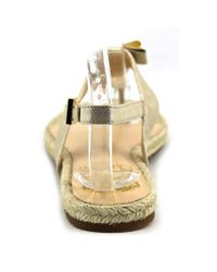Vince Camuto - Metallic Arabell Women Open Toe Canvas Tan Thong Sandal - Lyst