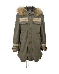 Bebe | Women's Green Cotton Jacket | Lyst