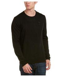 Versace - Black Medusa Knit Crewneck Wool Sweater for Men - Lyst