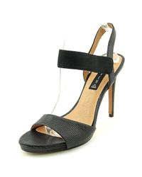 Steven by Steve Madden - Black Womens Razle Leather Open Toe Special Occasion - Lyst