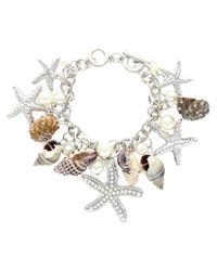 Sparkling Sage - Metallic Plated Resin Sea Life Charm Toggle Bracelet - Lyst