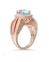 Suzy Levian - Multicolor Sterling Silver 5.18 Cttw Blue Topaz Ring - Lyst