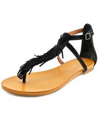 Lucky Brand - Wekka Women Open Toe Suede Black Thong Sandal - Lyst