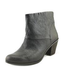 cf2de78b79354 Lyst - Sam Edelman Larkin Round Toe Leather Ankle Boot in Black