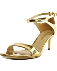 Via Spiga - Metallic Leesa Women Open Toe Leather Sandals - Lyst