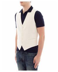Tagliatore - Men's White Silk Vest for Men - Lyst