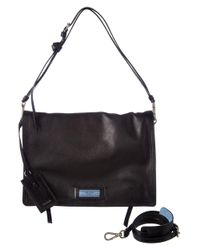76bf2ec5e60c Lyst - Prada Etiquette Calf Leather Shoulder Bag in Black