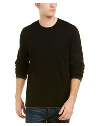 Vince - Black Layered Wool Crew for Men - Lyst